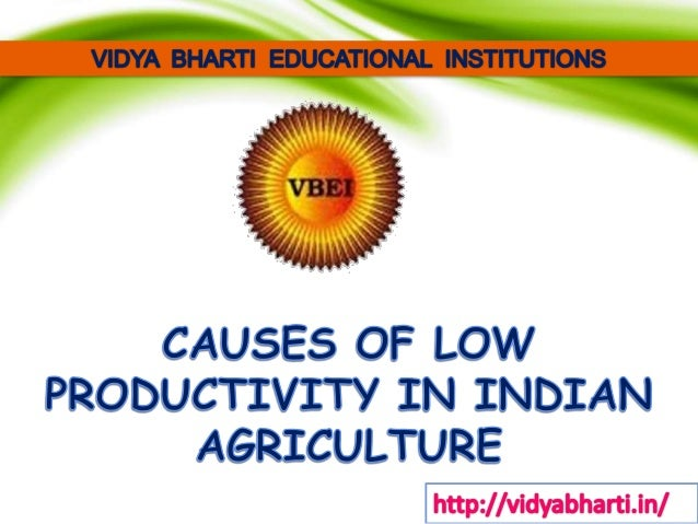 Causes of low productivity in indian agriculture