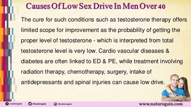 Cause of low sex drive in man