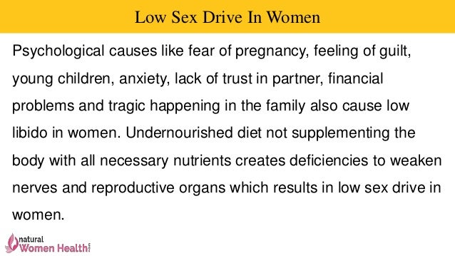 Low sex drive young women