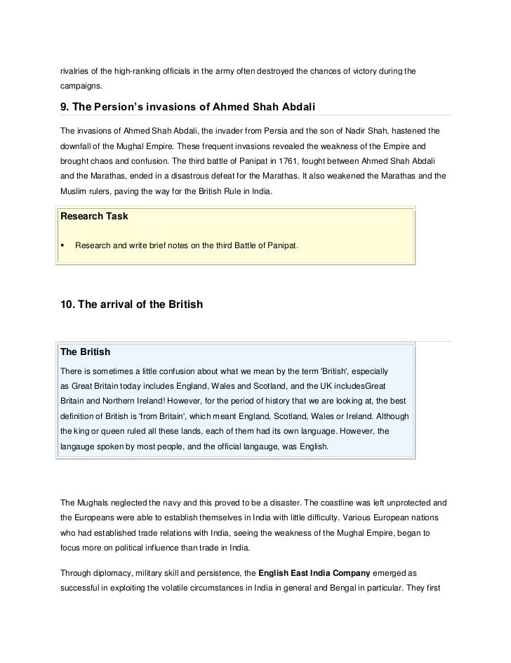mughal decline Start studying chapter 15 world hist learn vocabulary, terms, and more with flashcards, games the mughal and ottoman empires mughal decline was most probably not caused by the fall of the safavid dynasty.