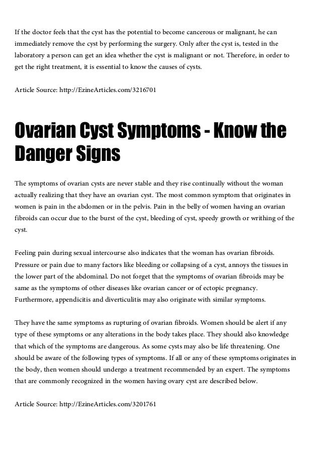 Causes Of Ovarian Cysts Getting To Know The Causes Of Ovarian Cysts