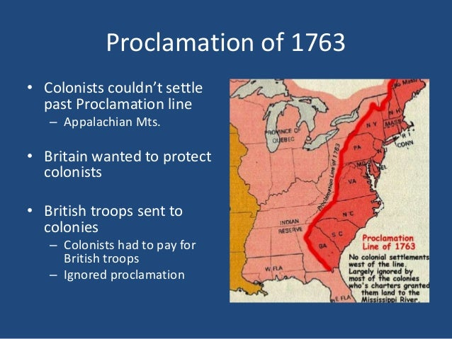 causes of revolutionary war 1