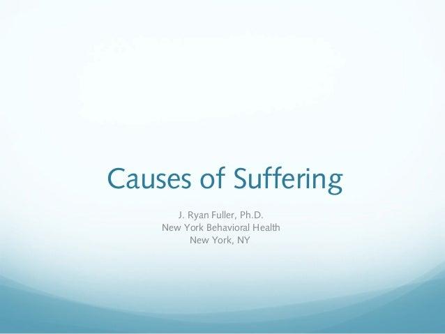 Causes of Suffering J. Ryan Fuller, Ph.D. New York Behavioral Health New York, NY