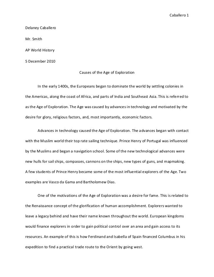 age of exploration dbq essay Name: _____ age of exploration dbq essay this question is based on the accompanying documents.