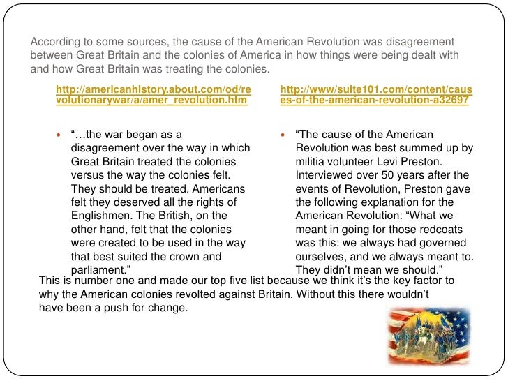 the disagreements between the british and colonists that sparked the american revolution Get an answer for 'what caused the growth of conflict between the american colonists and the british empire' and find homework help for other american revolution questions at enotes.