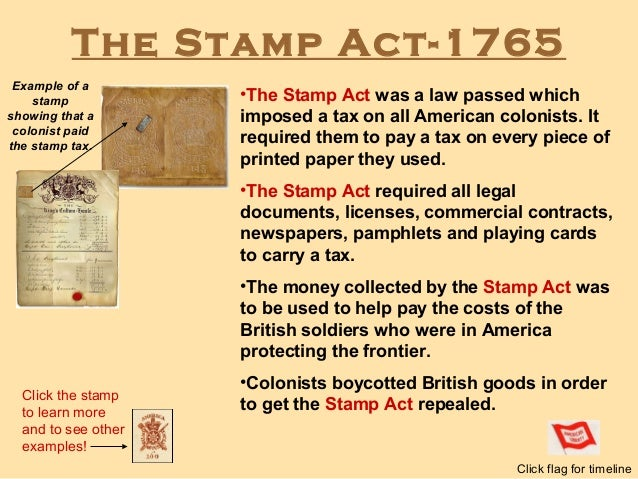 Stamp act essay
