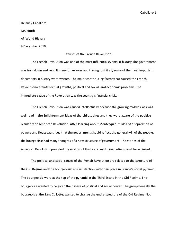 Causes Of The French Revolution Essay  Causes Of French Revolution  Causes Of The French Revolution Essay Argumentative Essay Thesis Example also My Service Order  English Essay Outline Format
