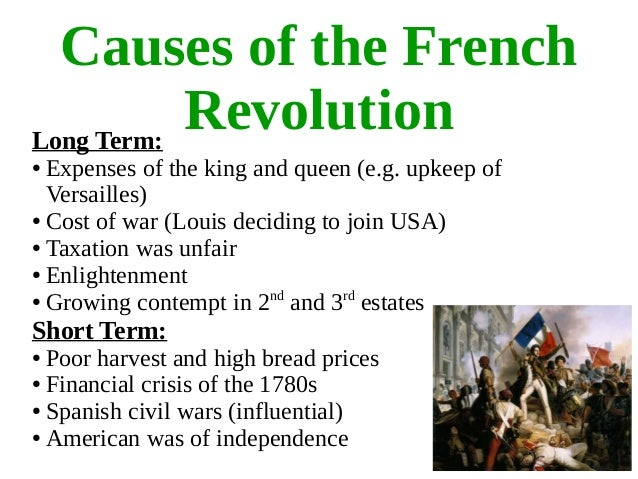 a report on the causes of the french revolution The french revolution how did the british react to july 1789 5 look at source 5 this is an extract from a confidential report from the british ambassador.