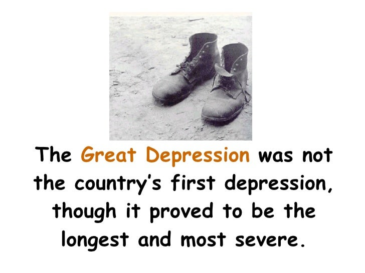 A description of the great depression as one of the most misunderstood events in american history