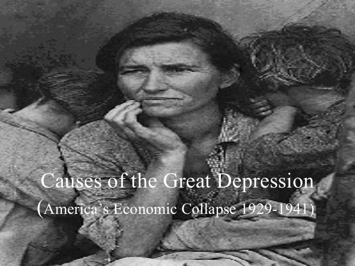 an analysis of the great depression of america And well before the great depression, almost as soon as the great the end of the fabled but in the last analysis the american people in depression.