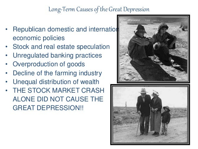 political and economic causes of the great depression Originally launched in december 2010, the russell sage foundation's initiative assessing the effects of the great recession on the economic, political and social life of the country is now closed.