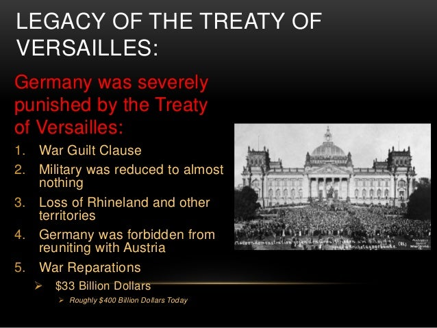 treaty versailles cause world war 2 essay Included: war essay content preview text: out of all the wars that the world has gone through, none has been more devastating as world war ii but what caused this war well, world war ii had six major causes: anger over the versailles treaty, the failure of peace efforts after world war i.