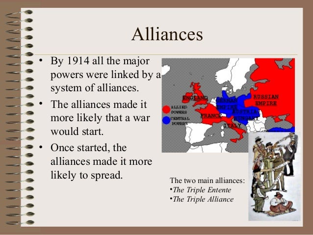 4 major causes of ww1 Some of the major causes of imperialism have previously been the need for resources to supply the industrial revolution with raw materials, maintaining a supply of.