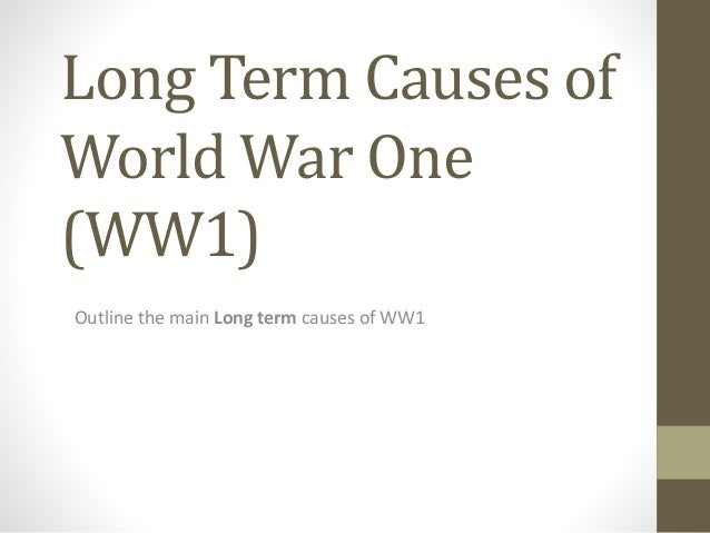 ww1 m a i n causes You will learn this mnemonic - m a n i a c - to help you remember the causes of world war i for task 3 you will be divided into pairs or small groups and assigned one of the following cause to research and create a presentation using microsoft powerpoint.
