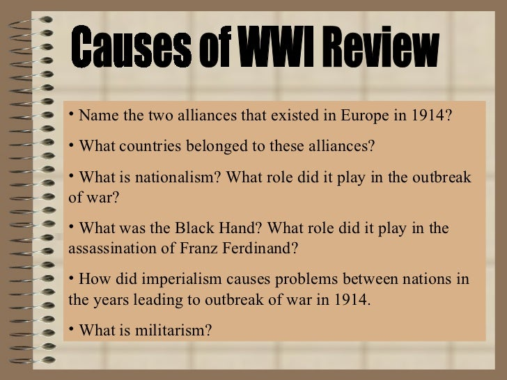 how did alliances cause ww1