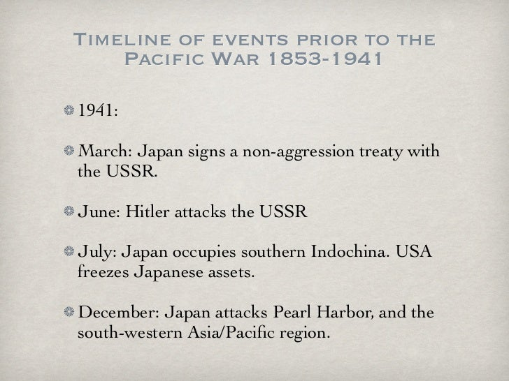 Causes of wwii pacific war