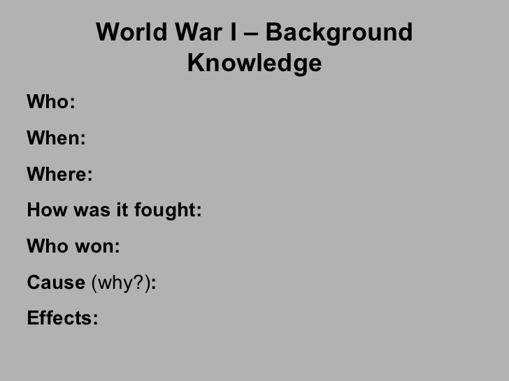 wwi causes and outcomes