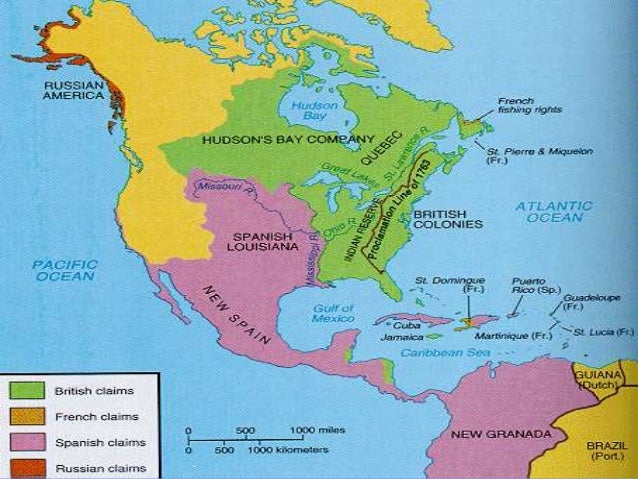 The American Revolution Thinglink Map Of United States In