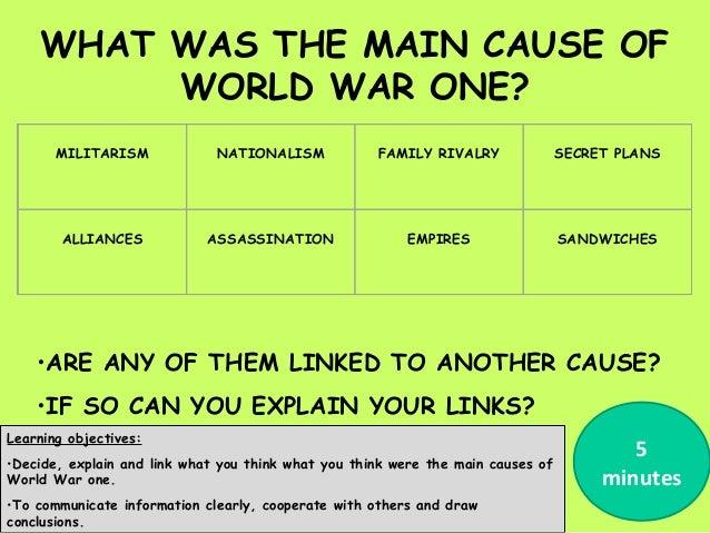 Causes world war one