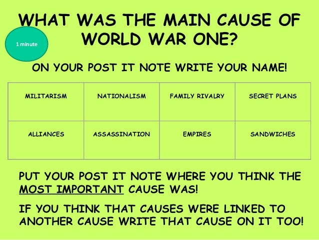 Causes world war one