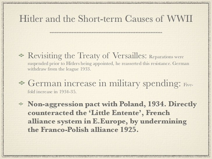 an analysis of the treaty of versailles as the cause of world war ii