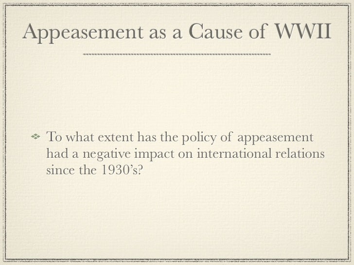 causes and outcome of wwii essay World war ii in the pacific was caused by a number of issues  states stated that  it would not recognize any government formed as a result of.