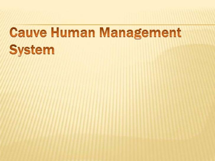 Cauve Human Management System<br />