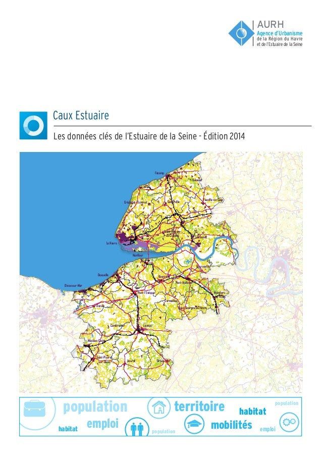 population population population emploi emploi habitat habitat territoire mobilités Caux Estuaire Les données clés de l'Es...