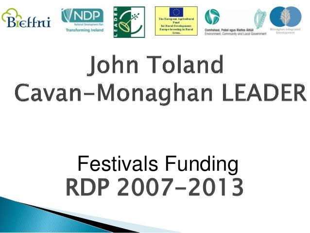 Festivals FundingRDP 2007-2013