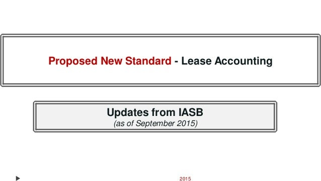 Accounting For Leases Under Ifrs