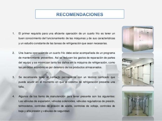 Cavas cuarto de refrigeraci n for Caracteristicas de una habitacion