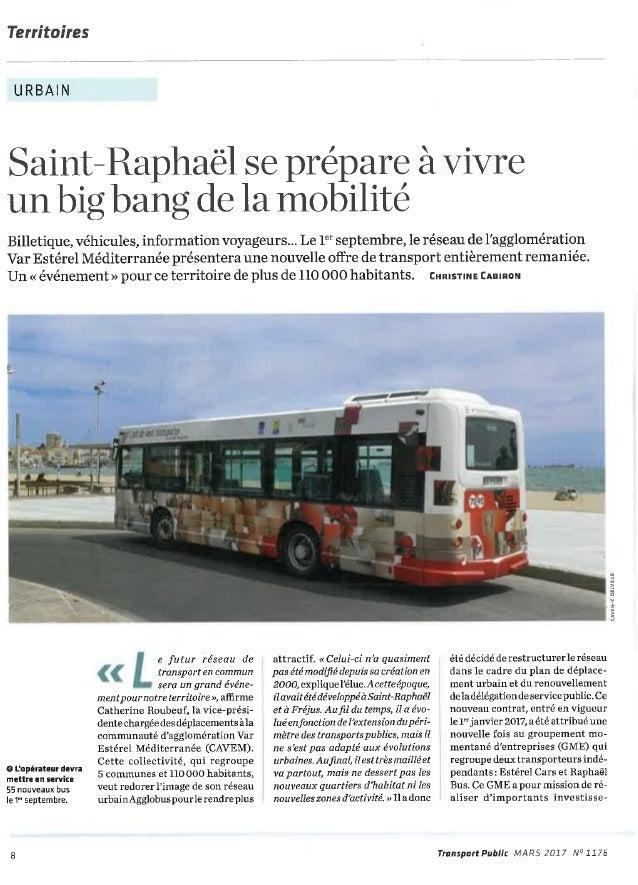 Agglomération de Saint Raphaël : un réseau de transport plus efficace et moins couteux pour la collectivité