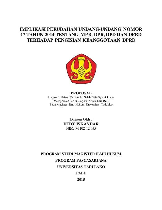contoh proposal tesis hukum perdata
