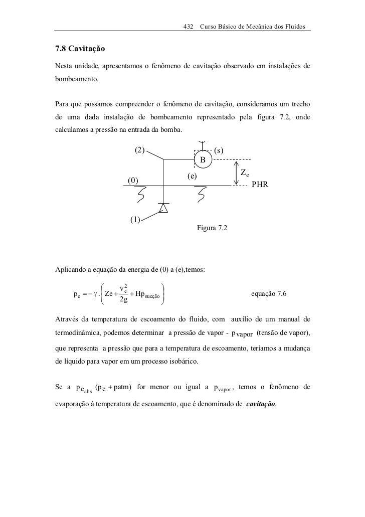432    Curso Básico de Mecânica dos Fluidos7.8 CavitaçãoNesta unidade, apresentamos o fenômeno de cavitação observado em i...