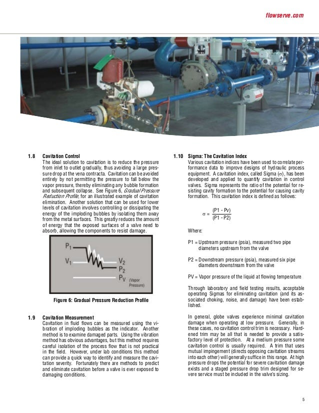 cavitation and flashing in control valves pdf