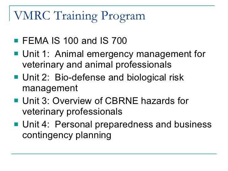Ca Cares 3 24 11 - Veterinary Role in Large Scale Disasters