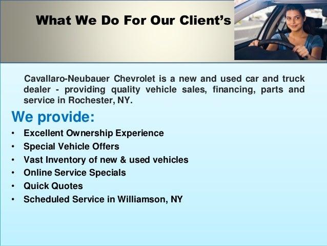 Auto Dealer In Williwmson - Cavallaro- Neubauer Cheverolet Slide 3