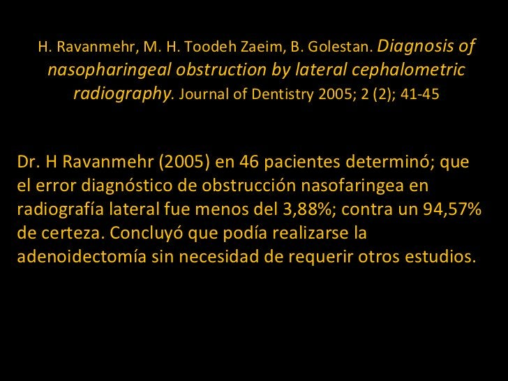 H. Ravanmehr, M. H. Toodeh Zaeim, B. Golestan.  Diagnosis of nasopharingeal obstruction by lateral cephalometric radiograp...