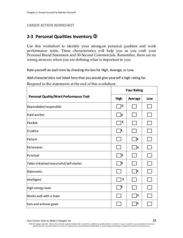 caw 2 3 personal qualities inventory
