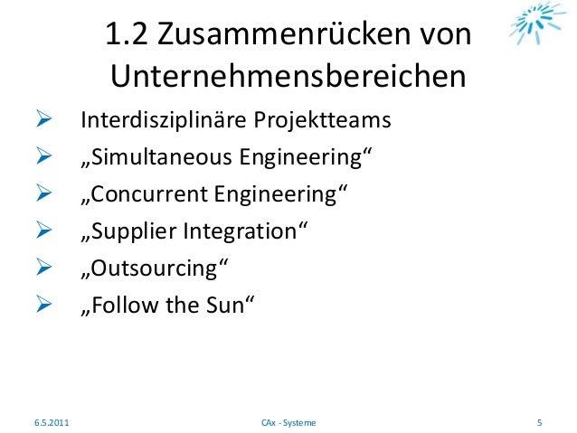 """1.2 Zusammenrücken von Unternehmensbereichen  Interdisziplinäre Projektteams  """"Simultaneous Engineering""""  """"Concurrent E..."""