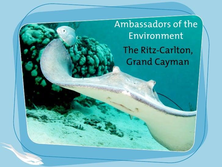 Ambassadors of the   Environment  The Ritz-Carlton,   Grand Cayman