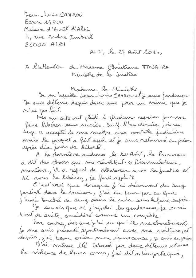Lettre ouverte à Christiane Taubira