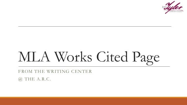 mla works cited page