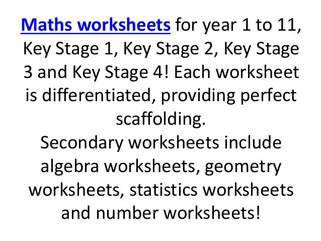 Cazoom Maths Resources – Key Stage 4 Maths Worksheets