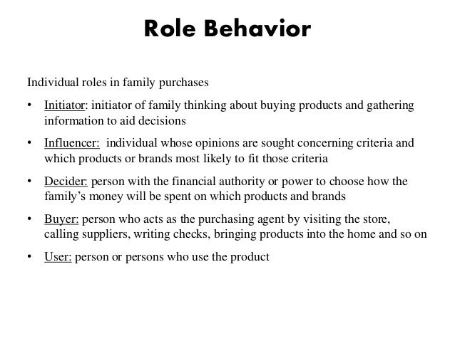 Role of family in consumer decision making