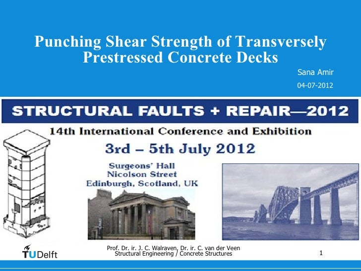 Punching Shear Strength of Transversely      Prestressed Concrete Decks                                                   ...