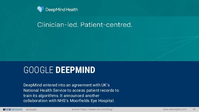 #AIHealth Special Focus: FIGHTING CANCER WITH MACHINE LEARNING www.cbinsights.com 34