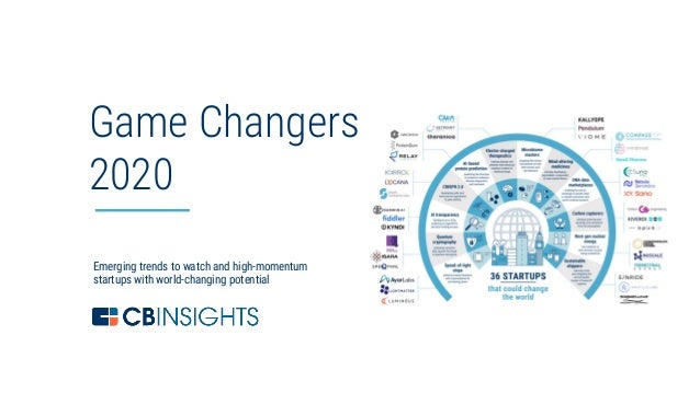 1 Emerging trends to watch and high-momentum startups with world-changing potential Game Changers 2020