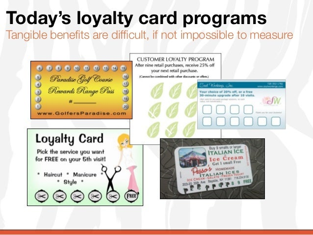 Today's loyalty card programsTangible benefits are difficult, if not impossible to measure