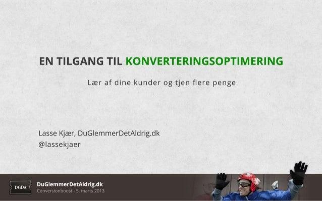 Lasse Kjær - Conversionboost